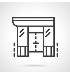 Shopping center black line design icon vector image vector image