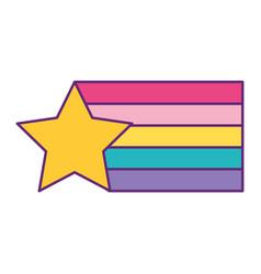Star rainbow colors design creative vector