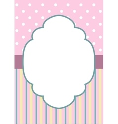 stripes and polka dot on pink vector image vector image