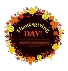 Thanksgiving autumn vector