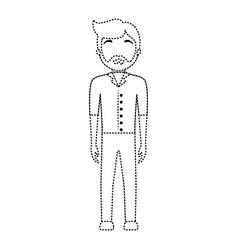 waiter man vector image