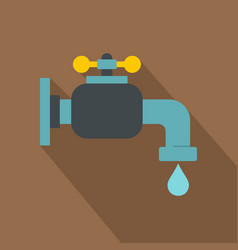 Water tap icon flat style vector