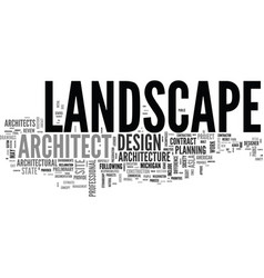 What is landscape architecture text word cloud vector