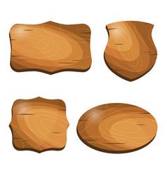 wooden vintage labels stickers emblems badges vector image