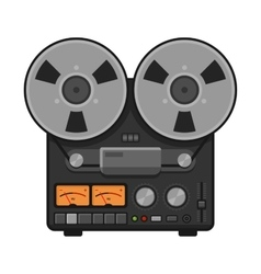 Vintage Analog Stereo Reel Deck Tape Recorder vector image