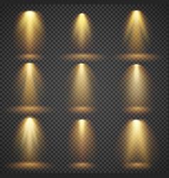 sunlight glowing yellow lights glow vector image