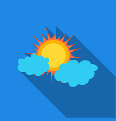 Cloudy weather icon in flate style isolated on vector