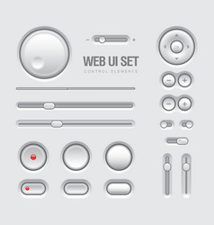 Light Web UI Elements Design Gray vector image