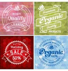 Label design vector image