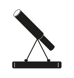 Telescope sign   black icon on vector