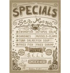 Vintage graphic page menu for bar or restaurant vector