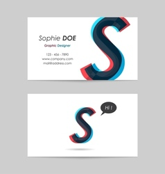 Business card template - letter s vector