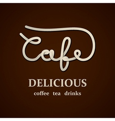 Cafe calligraphic design template vector