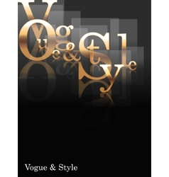 Vogue and style vector