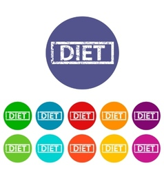 Diet flat icon vector