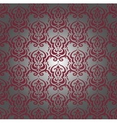 Burgundy damask pattern vector