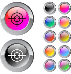 Sight multicolor round button vector