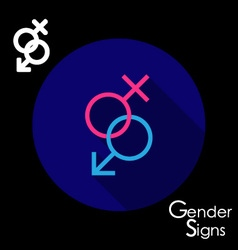 Gender signs for male and female vector