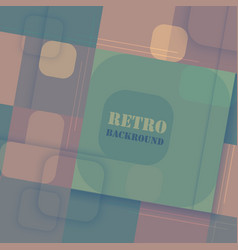 Abstract colorful retro background with square vector