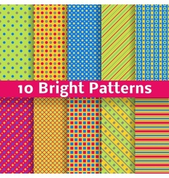 Abstract geometric bright seamless patterns tiling vector