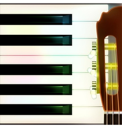 Abstract musical background with acoustic guitar vector