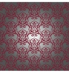 Burgundy damask pattern vector