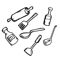cooking ware vector image vector image