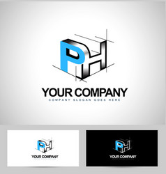 Creative abstract cube logo on white back vector