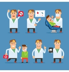 Dentist doctor character vector