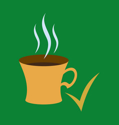 flat coffee cup icon vector image vector image
