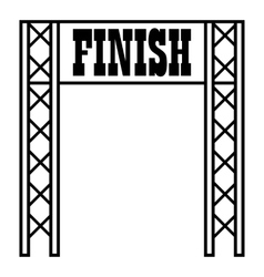 Gates racing finish icon outline style vector image vector image