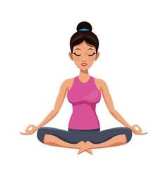 Girl and yoga design vector