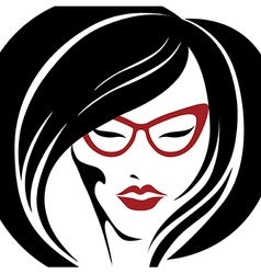 girl glasses 2 2 vector image vector image