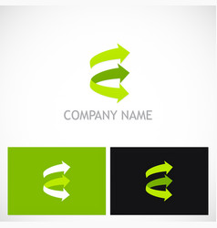 green arrow right logo vector image vector image