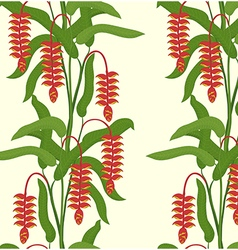 Heliconia Seamless Pattern vector image vector image