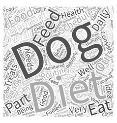 Importance of a feeding schedule in your dogs diet vector