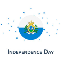 Independence day of san marino patriotic banner vector