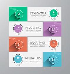 infographics flat design 2 vector image vector image