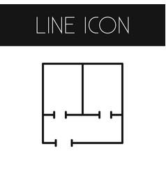 Isolated blueprint outline floor plan vector