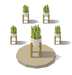 Low poly plant vector