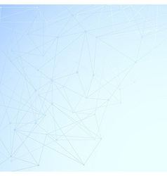 Modern networking background template vector image
