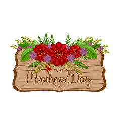 Mothers day holiday greeting card vector