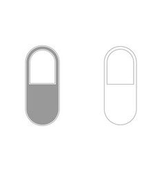 Pill grey set icon vector