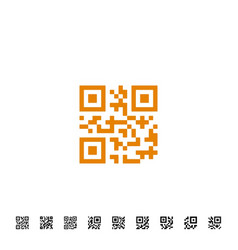 qr code icons vector image vector image