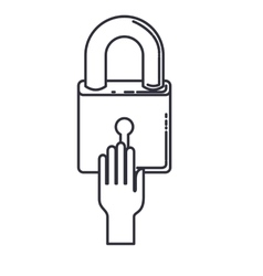 safe padlock lock isolated icon vector image