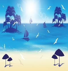 Sand beach small islands vector