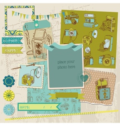 Scrapbook Design Elements - Vintage Photo vector image vector image