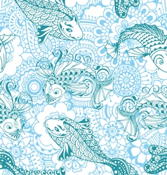 Seamless pattern in the style of mehendi vector