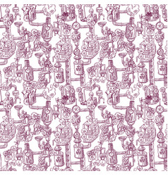 seamless pattern steampunk vector image