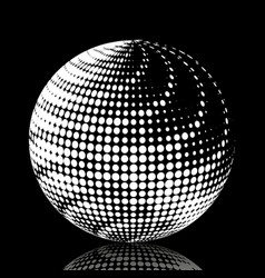 Set abstract halftone 3d spheres 19 vector